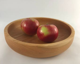 Cherry wood Fruit bowl, unique,bespoke, handcrafted in Scotland