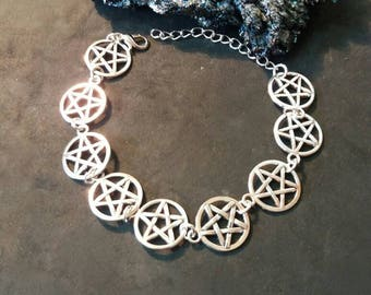 Wiccan, pagan wiccan pentacle bracelet jewlery jewlery witch, wiccan, pagan