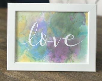 Handmade 'love' Framed Artwork