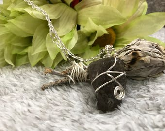 Smokey Quartz Crystal Necklace**CLEANSED AND BLESSED