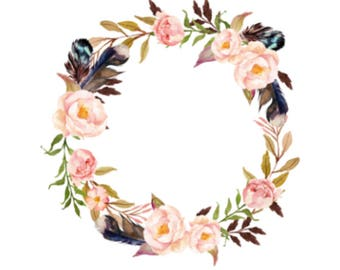 Floral Wreath Reversible Round Baby Play Mat