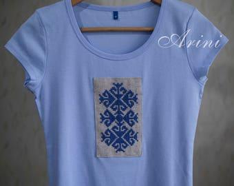 Light blue slim fit T-Shirt