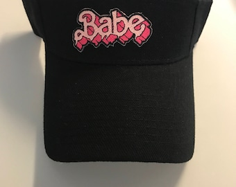 Babe Black Visor