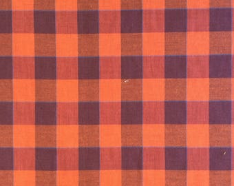Plaid Brushed Cotton / lightweight flannel - 1/2 yard or more