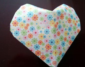 3 D real origami heart
