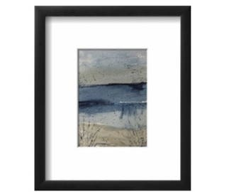 Watercolor Seascape  painting  Beach wall art  Nautical wall art   Home Decor