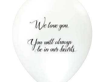 30pc White Remembrance Funeral Biodegradable Balloons with Helium Foil for Balloon Releases – Personalized Memorial Event, AU Free shipping