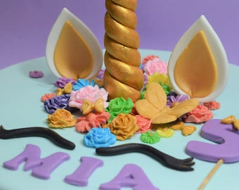 Unicorn Cake Topper   Edible Unicorn   1st Birthday   Cake Toppers   Unicorn Party   Edible Unicorn Cake Toppers   Girls Unicorn  