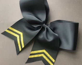 Black or White Embellished Cheer Bows