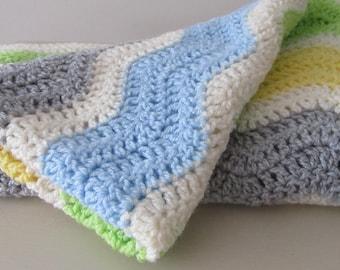 Baby Gift. Vintage Baby Crotchet Blanket. Multi  Colours. Baby Gift. Christening Gift. Baby Blanket. Hand Made Baby Blanket.