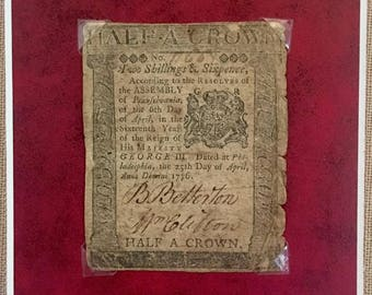 Colonial Currency, Dated April 25th, 1776