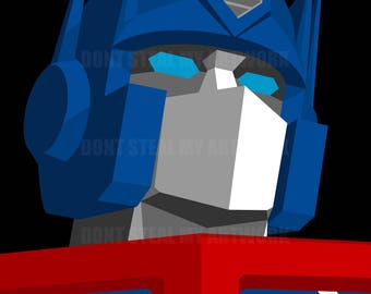 Optimus Prime, The Transformers - Original Art - Digital Download