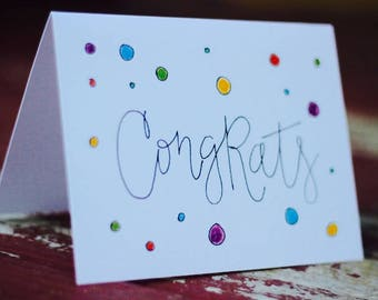Congrats Card Pack (5 different designs and envelopes)