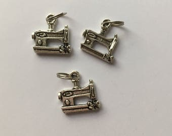 Sewing Machine Zipper Charm - 1.25cm Silver