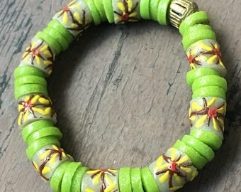 Chantel Green- Beautiful Ghana Beads with Rustic Embellishment