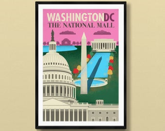 Washington DC art | Washington DC gift | Washington DC poster | Washington dc skyline | Washington dc | us capitol art | Washington Monument