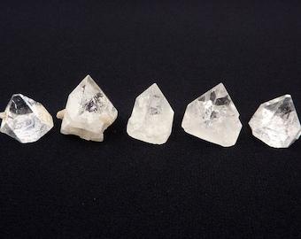 Apophyllite Lot | Apophylite | Apophylite Points | Apophylite Crystals | Clear Apophylite | Raw Apophylite Pyramids | India | 36 grams