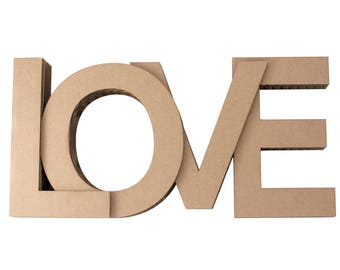 Love made of cardboard