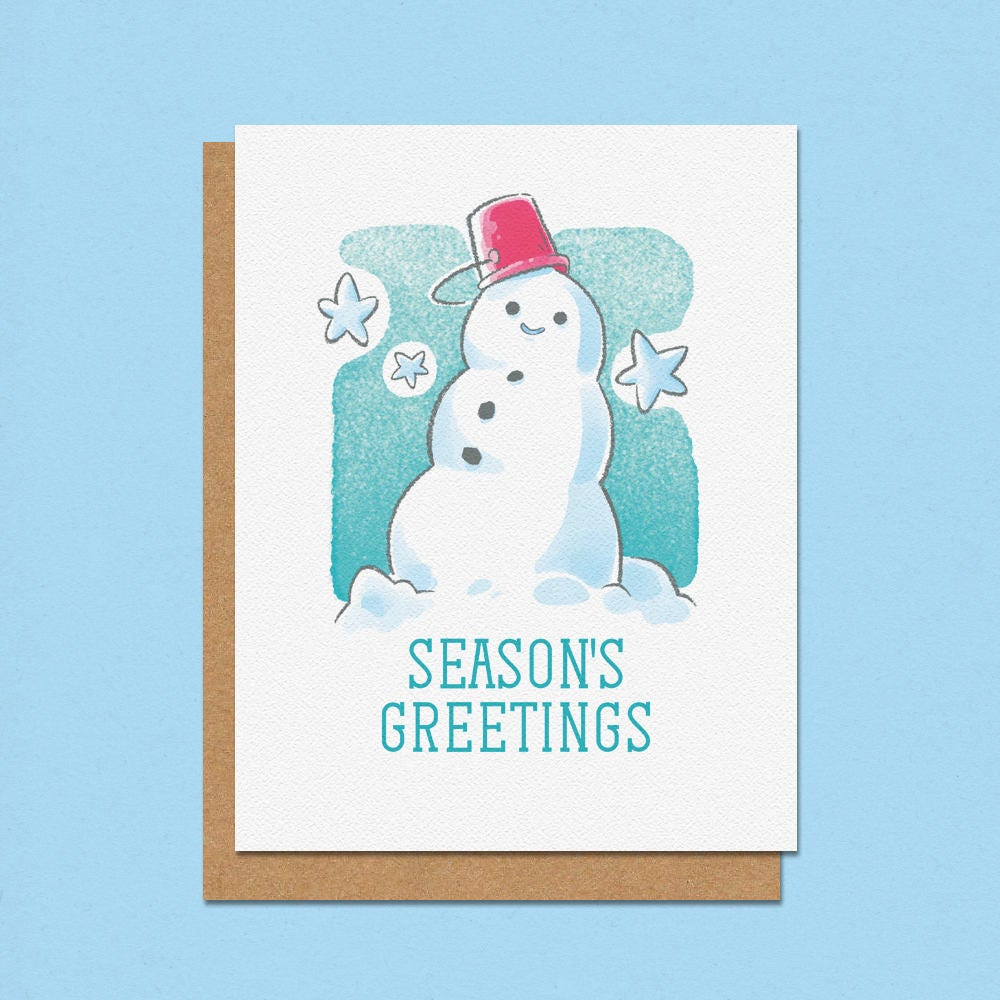 Holiday cubby company seasons greetings jolly snowman greeting card kristyandbryce Image collections