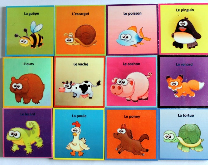 Game memory animals 24 pieces from 2 years