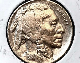 1914 S Buffalo Nickel - Choice BU / MS / Unc