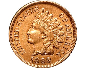 1898 Indian Head Cent - Choice BU / MS / Unc