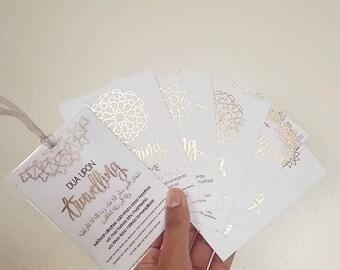 A7 Set of 6 Foiled Dua Cards Gift Set
