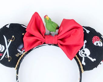 Pirate, Parrot, Pirates Of The Caribbean, Minnie Mouse Ears