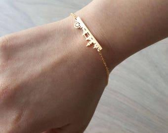Delicate Petite London Bracelets,Delicate UK Bracelet, CITY bracelet,Thin Gold Chain, Layering Bracelet , Bridesmaid Gift