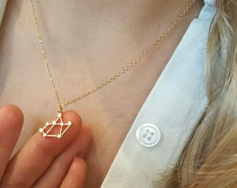 Sagittarius necklace,Zodiac Sign necklace,Constellation necklace,Star necklace,Birthday gift, Bridesmaid gift,minimalist necklace