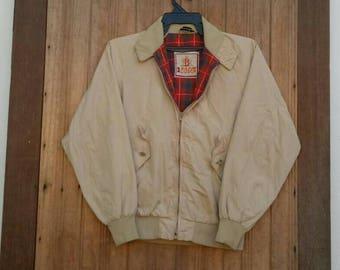 Rare!! BARACUTA Harrington jacket made in England cream colour medium size