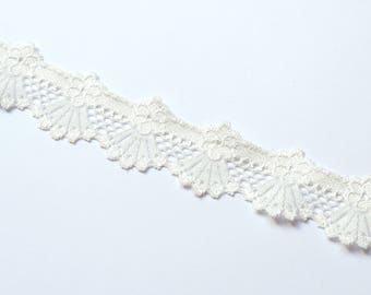1 m of lingerie elastic lace trim in ivory