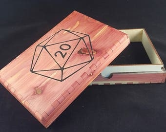 Double dice tray  / carrying case perfect for board gamers and RPG, Dungeons & Dragons, Pathfinder, DnD players