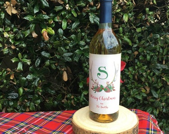 Personalized Wine Wrappers, Holiday Antlers