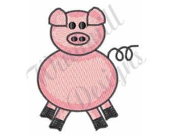 Pink Piggy - Machine Embroidery Design