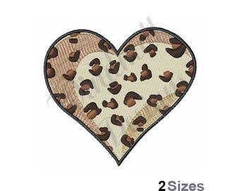 Leopard Heart - Machine Embroidery Design