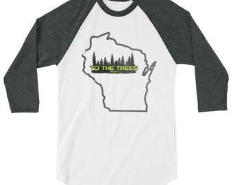Wisconsin Outdoors Shirt | North woods shirt | Gray | Black| Blue | Red | Green| To The Trees | Outdoor Lover | Wisconsin outline | Trees