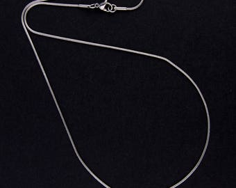 """Platinum"" snake - 71103 link chain necklace"