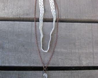 Double Stranded Crochet Choker Necklace