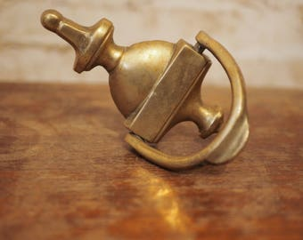 Brass Plated Urn Door Knocker