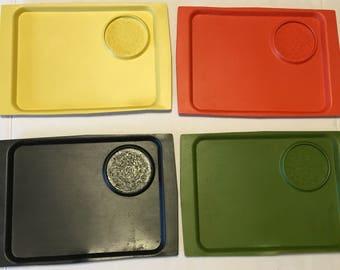 Set of 4 ACCA Trays by David Douglas