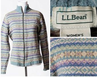 Vintage Women's LL Bean Wool Jacket - 90's Retro Small S Lambswool