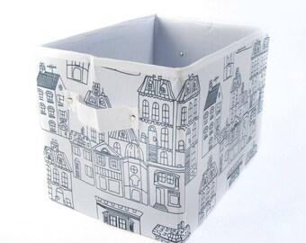 Collapsible Storage Box, Square Storage Basket,Storage Bin, Fabric Storage Basket,Black and White Storage Box,Birds Storage Box,Toys Storage