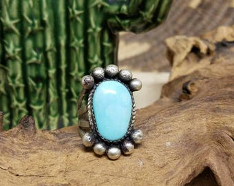 Gorgeous Minty green Turquoise Navajo ring