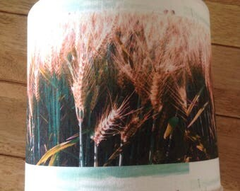 Wheat fields lampshade, nature home decor, wheat fields digital photograph lampshade, digital fabric nature lampshade, nature lover gift