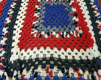 American style afghan/throw