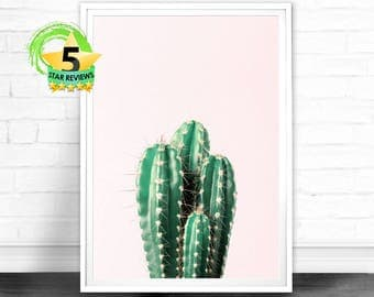 Cactus Wall Art, Cactus Print, Cactus Art, Desert Cactus Photo, Cactus South Western Decor, Cactus Photography, Pink and Green Printable Art