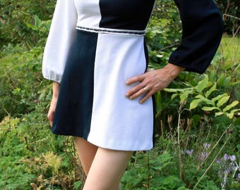 Black & white mini dress