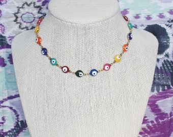 Evil Eye choker - Multi