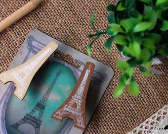 Wooden clips 2 pezzi/pieces set Tour Eiffel